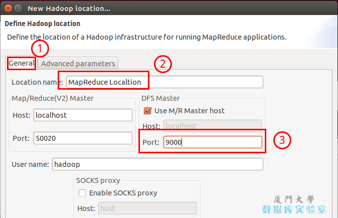 Hadoop Location 的设置